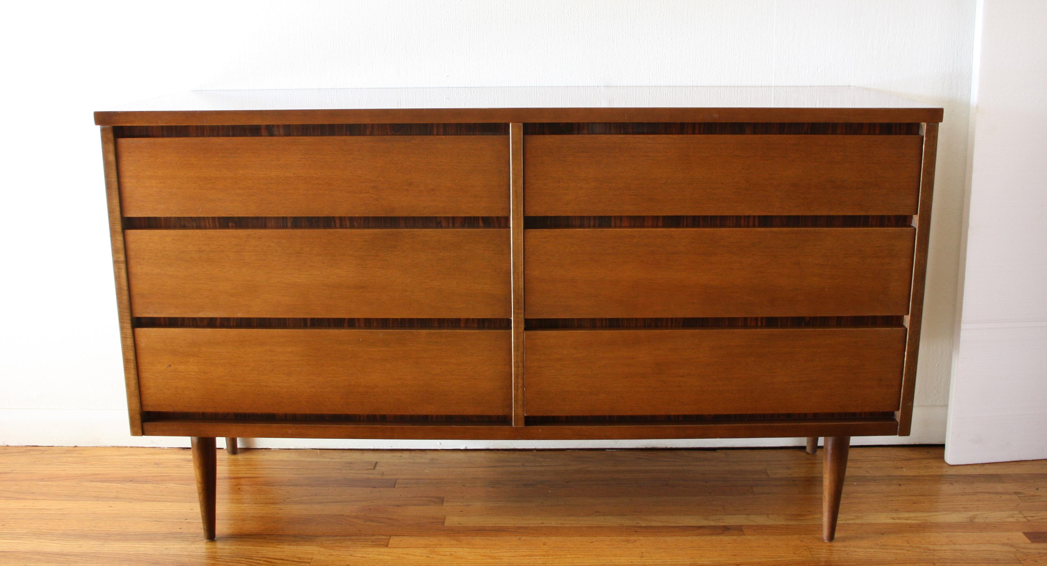 Bassett rosewood low dresser 1
