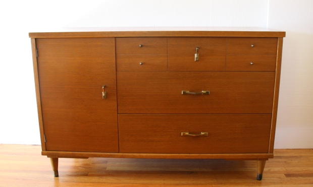 Mcm credenza with angled pulls 1