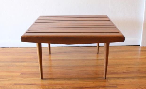 Adrian Pearsall style square slatted table 1
