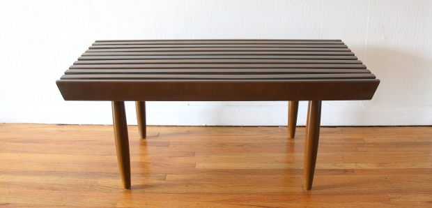 mcm slatted coffee table bench 1