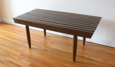mcm slatted coffee table bench 2