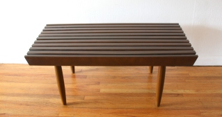 mcm slatted coffee table bench 3
