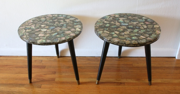 Pair of Abalone tables 4