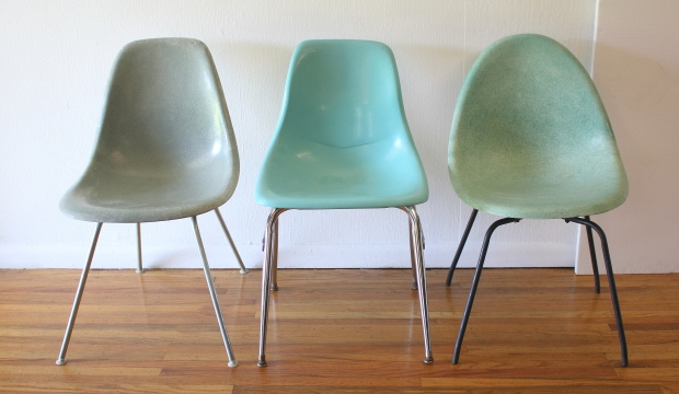 trio of shell chairs 1
