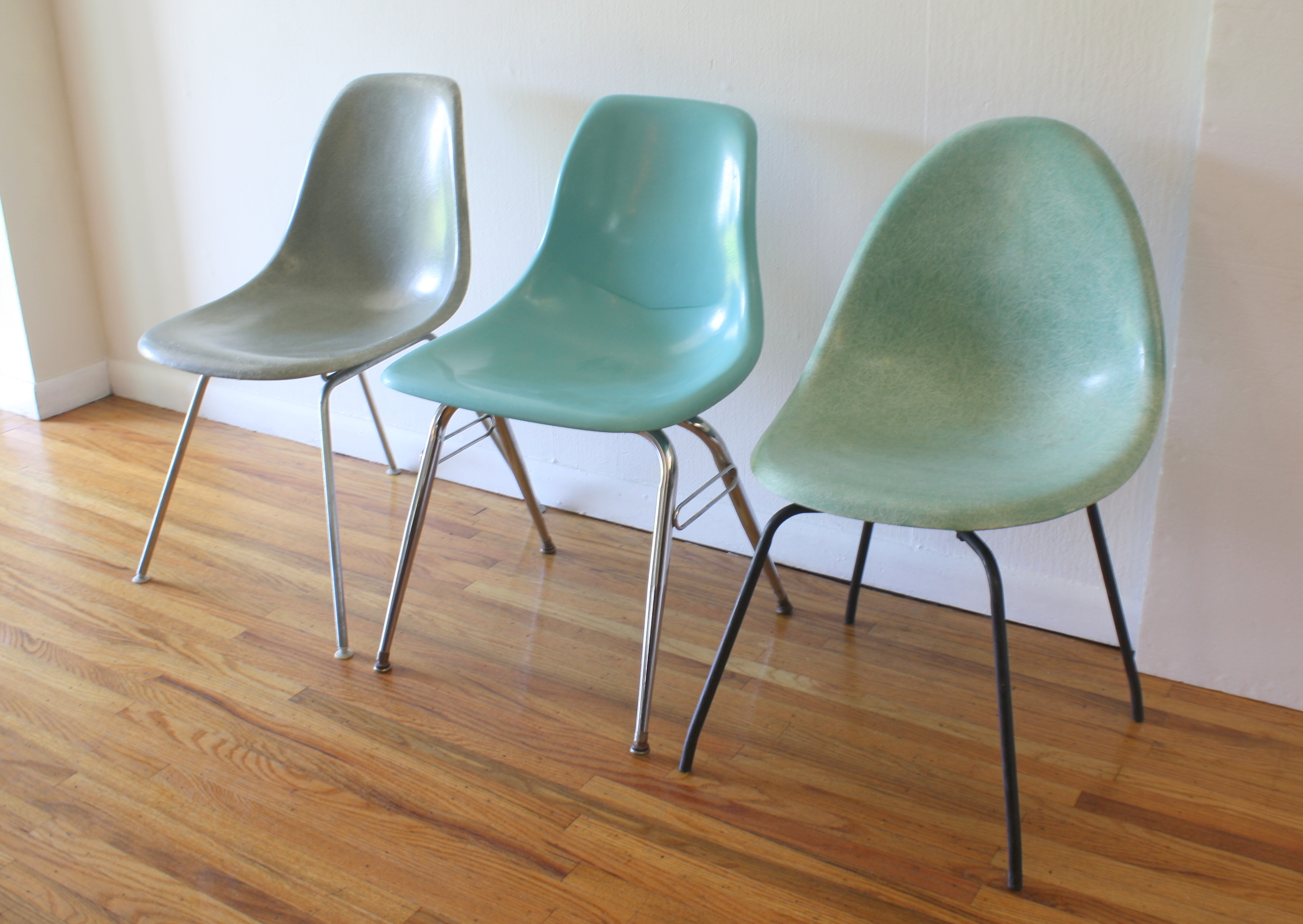 trio of shell chairs 2