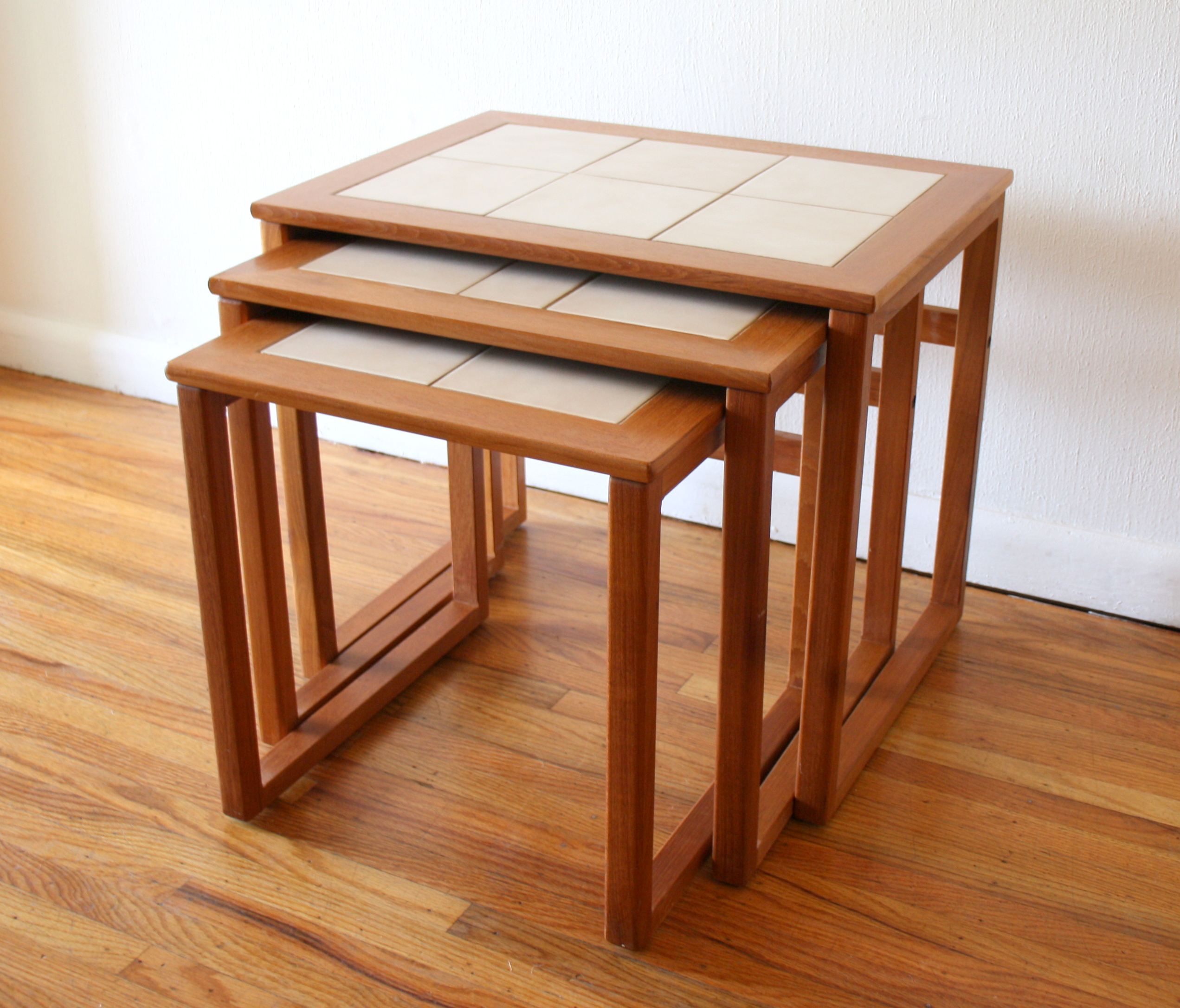 Danish teak tile nesting tables 1.JPG