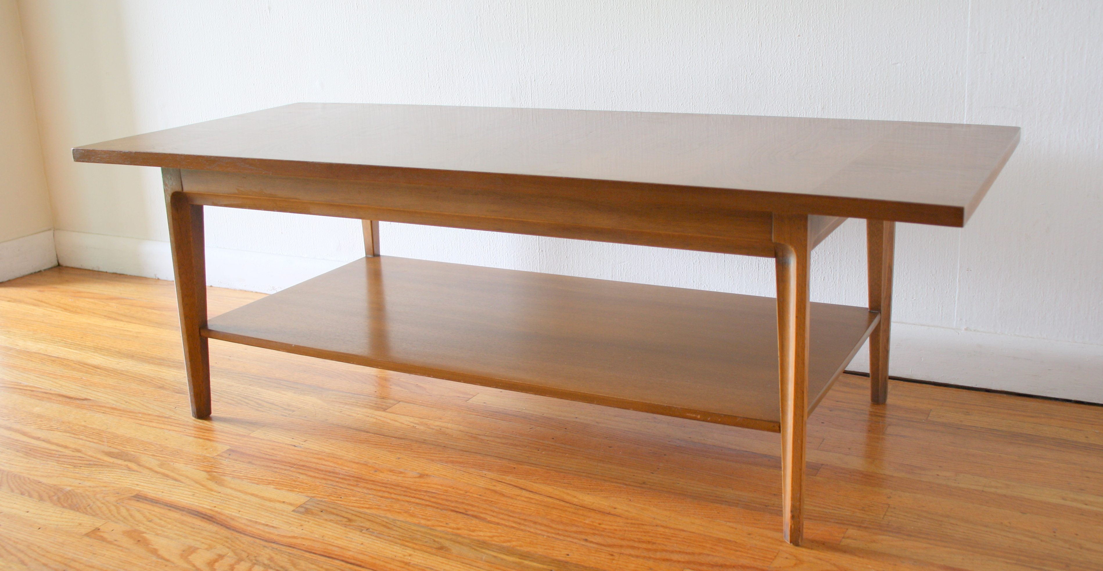 Mcm coffee table with sculpted tapered legs 1.JPG