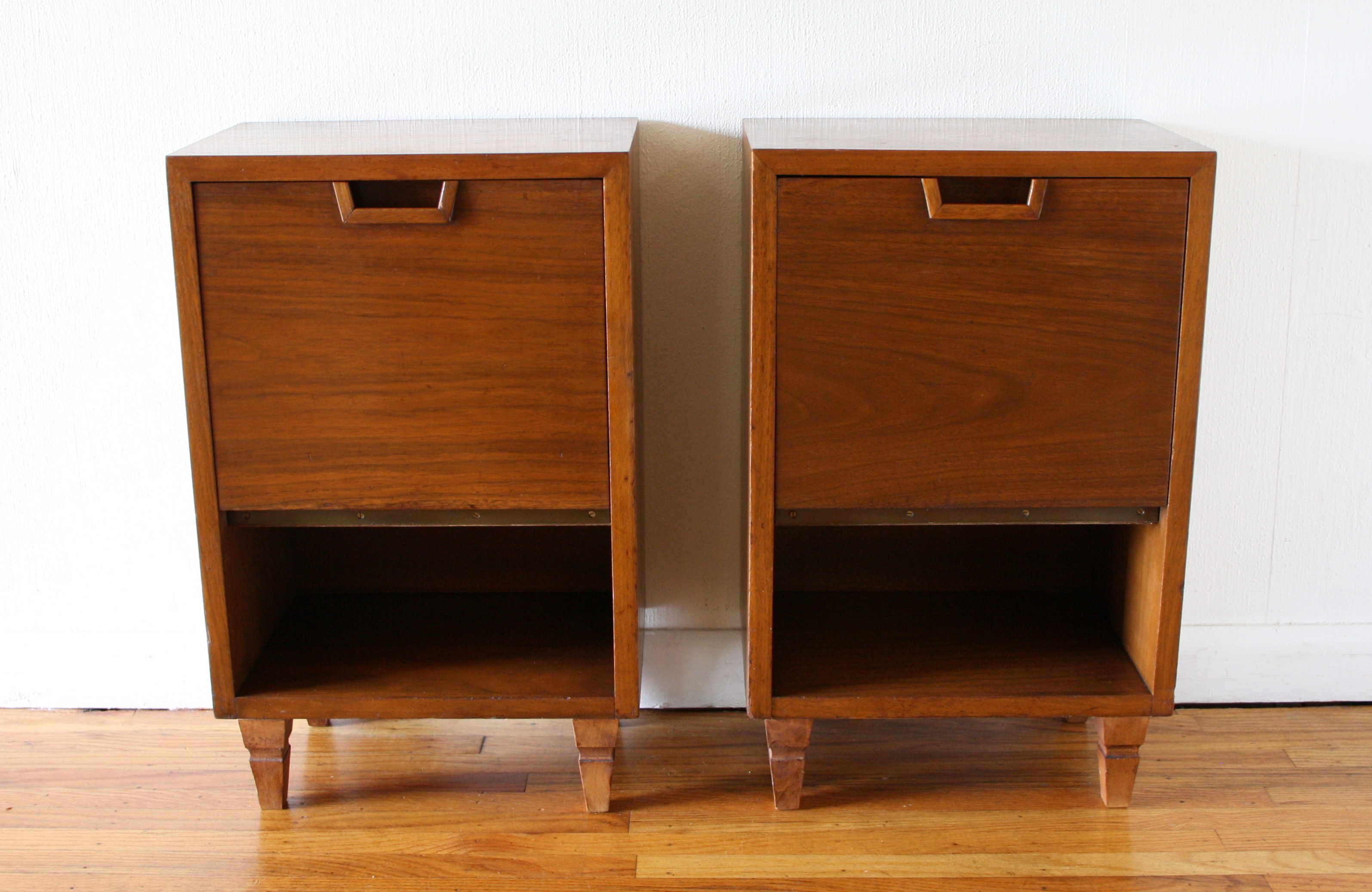 Mcm pair of side end table nightstands 1