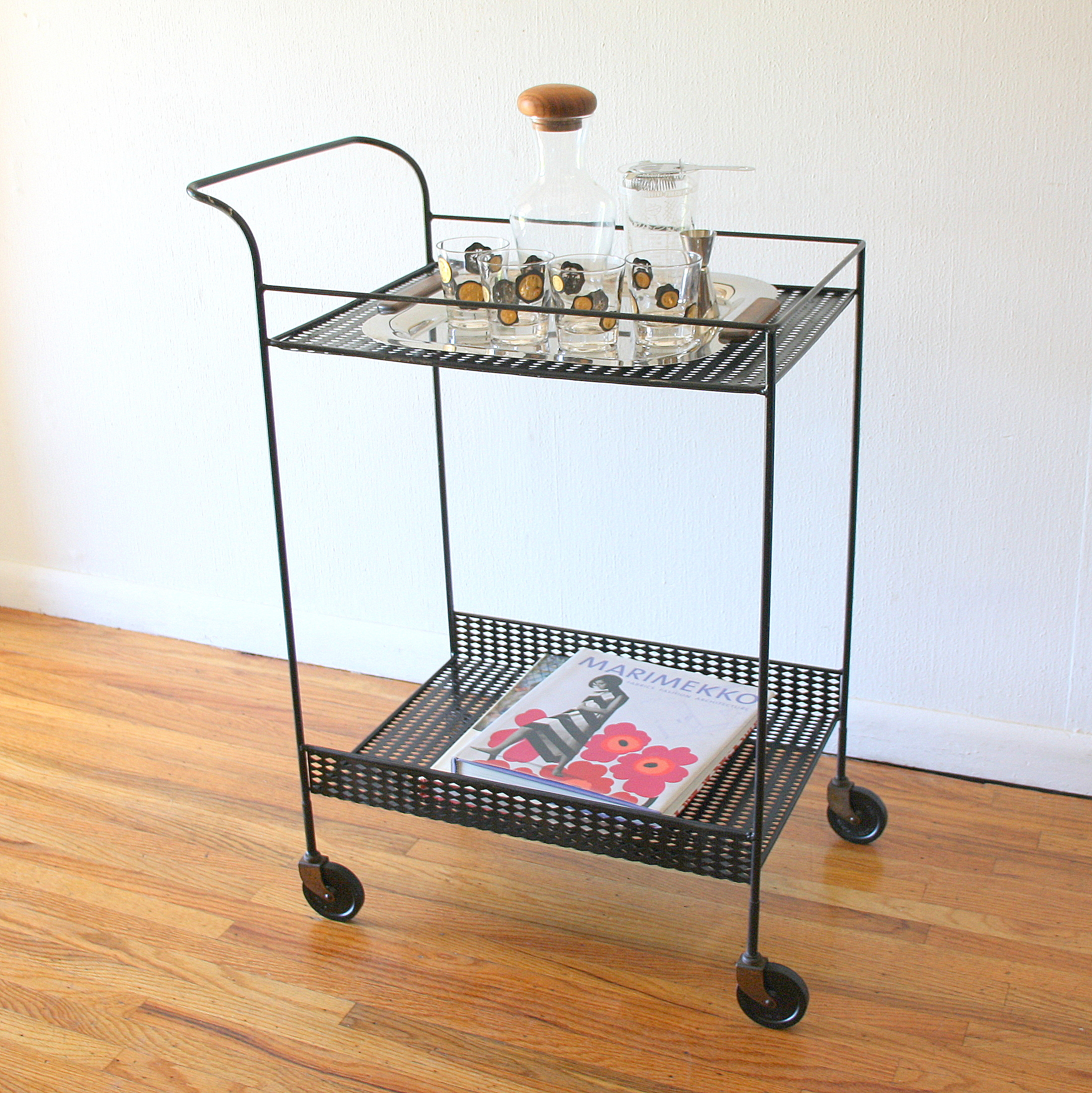 Mcm black metal bar serving cart 2.JPG