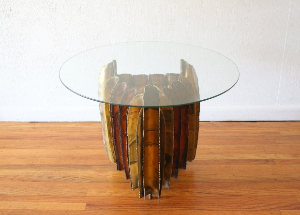 Mcm Brutalist round glass topped table 1.JPG