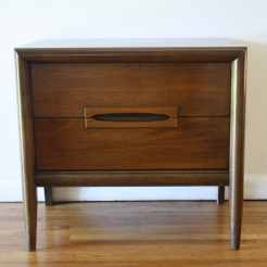 mcm nightstand with carved pulls 1