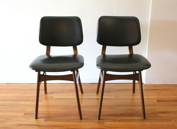 Mcm pair of black naugahyde side chairs 1.JPG