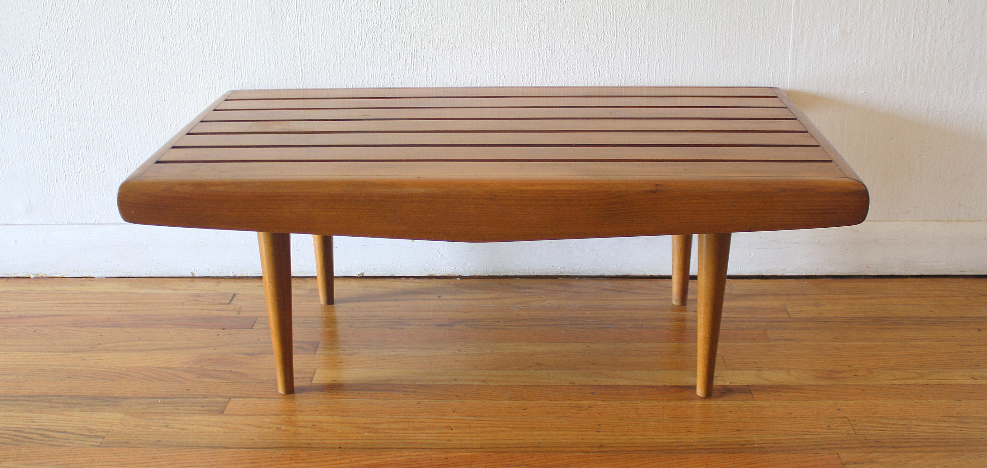 Adrian Pearsall style mini slatted bench 1