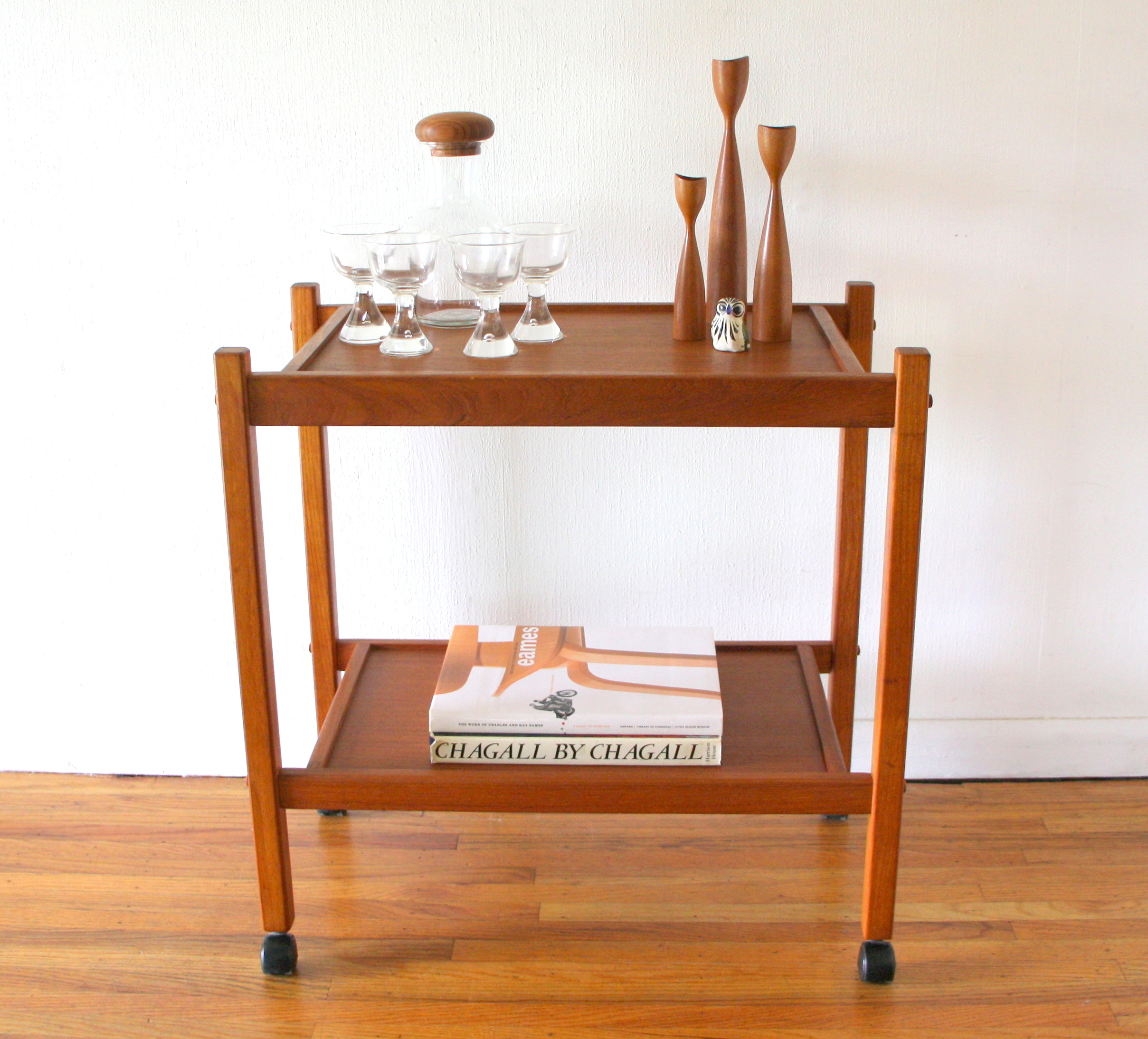Danish teak bar cart 1