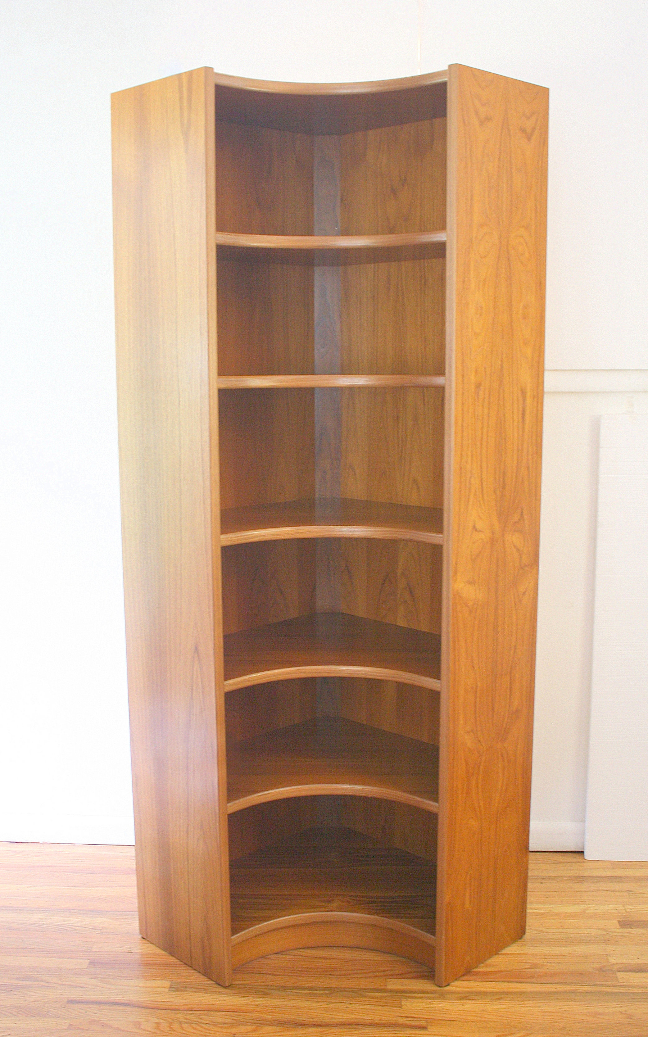 Danish Teak Corner Shelving Unit 1