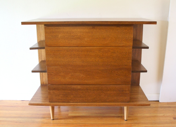 Mcm bar shelving unit with drawers 1