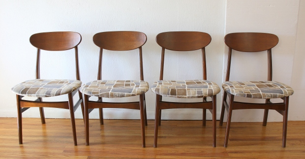 Mcm dining chairs set of 4