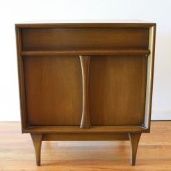 Mcm side end table nightstand w drawer & door 1