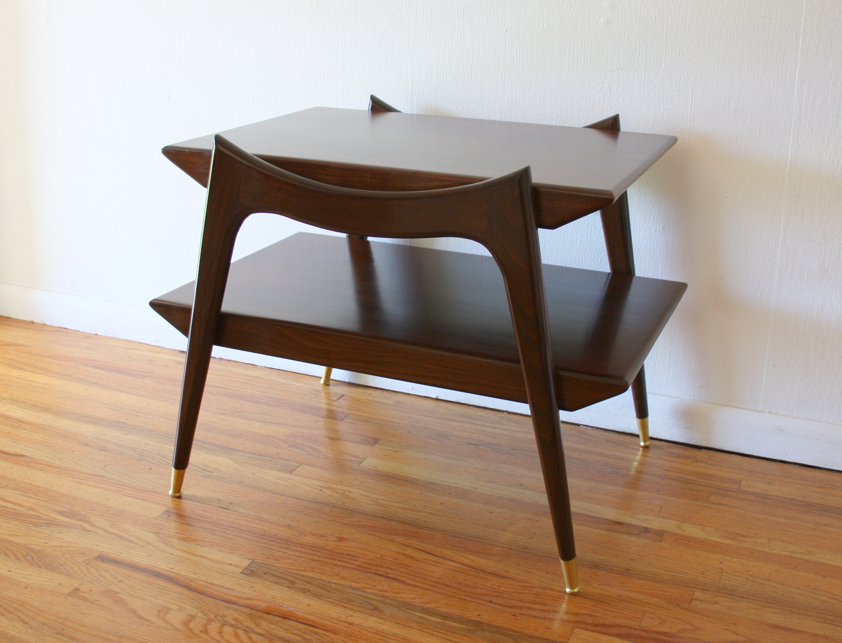 Mcm side table with angled sides 2