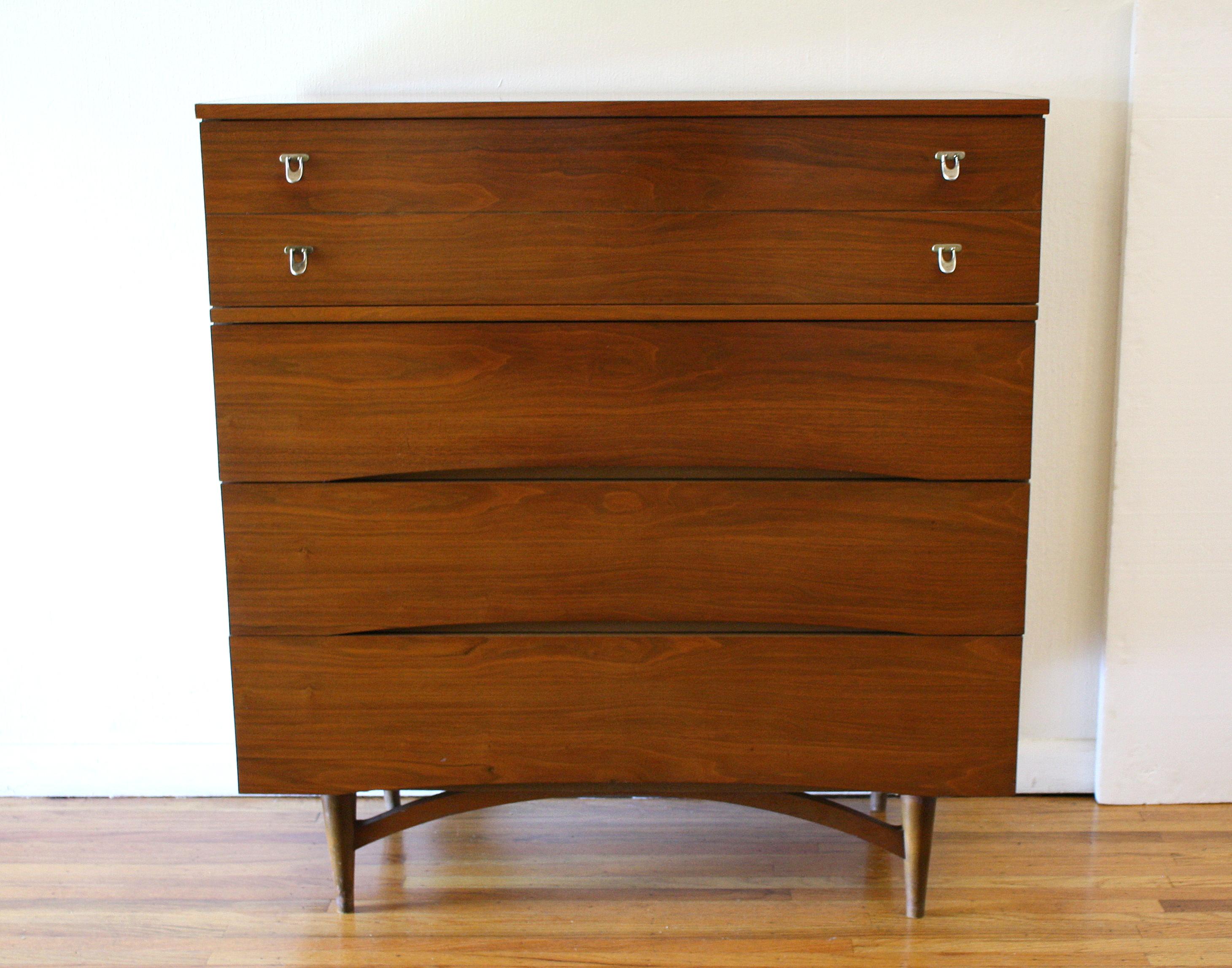 Mcm tall dresser arched design 1