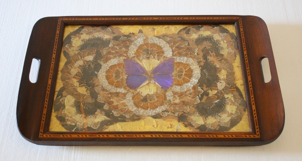 vintage butterfly tray 1