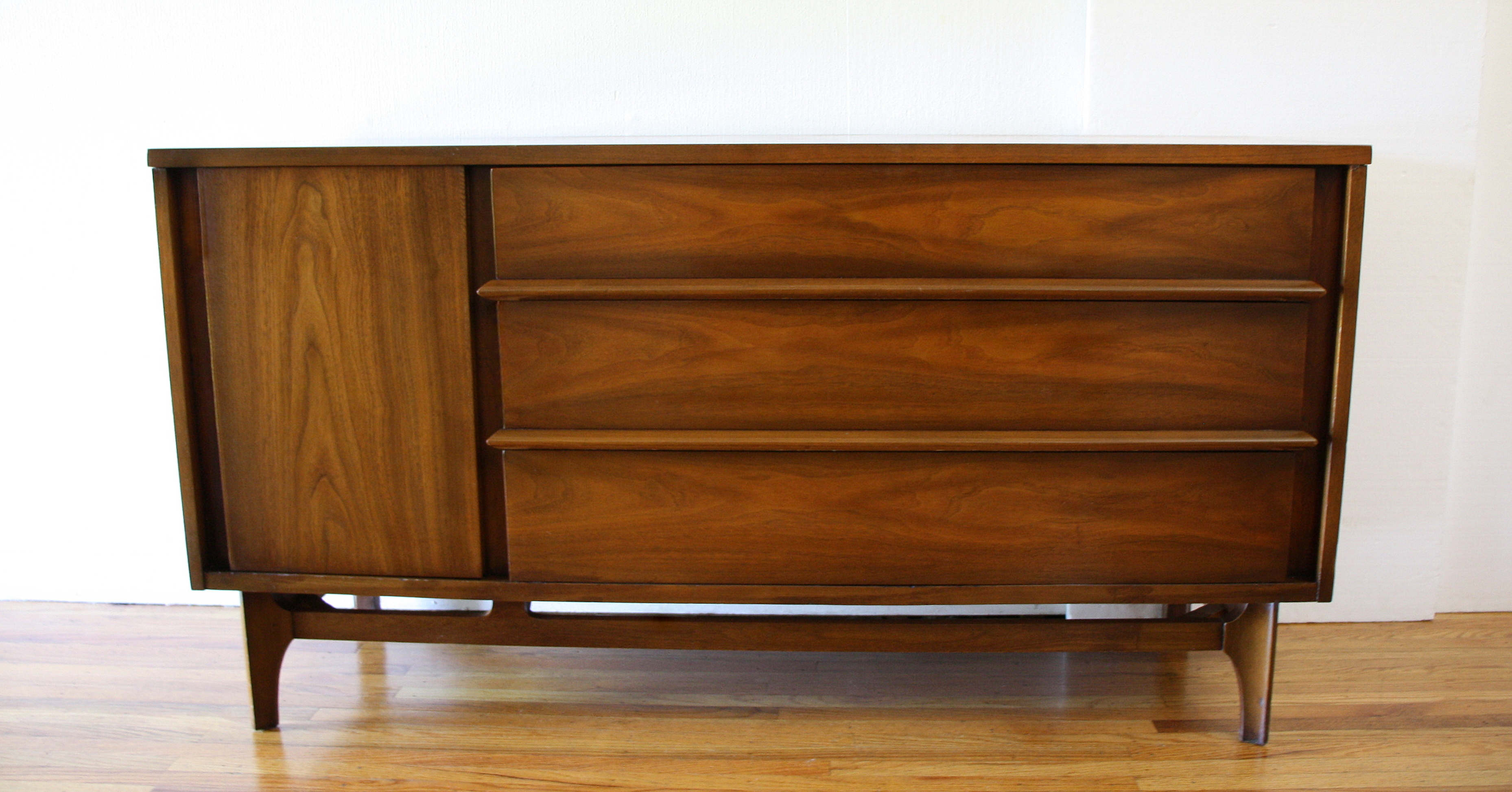 Mcm credenza with sculpted base 1