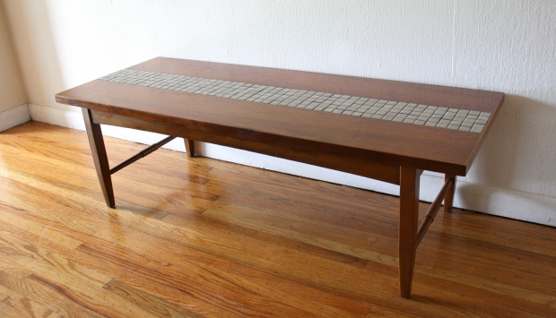 Lane gray tile coffee table 2