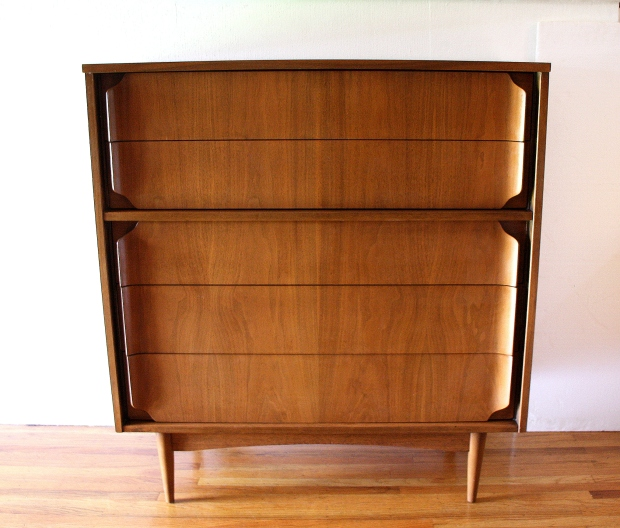 Mcm tall dresser with curved pulls 1